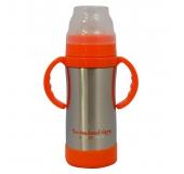 Detská termo fľaša 300 ml strieborná. Eco Vessel d33975d4901