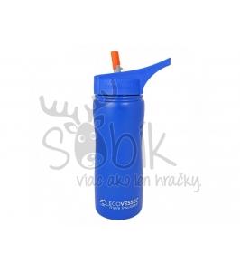 Termo fľaša so sosákom 500 ml modrá. Eco Vessel 079247021b5