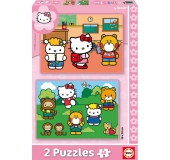 Puzzle - Hello Kitty 2 x 48 ks
